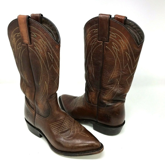 4d31e4b0cff Frye Billy Pull On Leather Western Cowboy Boots